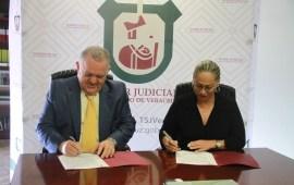 Firman Convenio de Colaboración la Comisión Estatal de Derechos Humanos y el Consejo de la Judicatura
