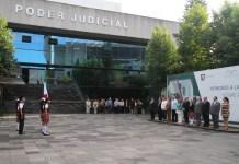 Celebran ceremonia de Honores a la Bandera en el Poder Judicial del Estado de Veracruz