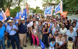 Los ejidos Valedor, El Chiflido y El Rubio ya esperaban a Maricela TRONCO
