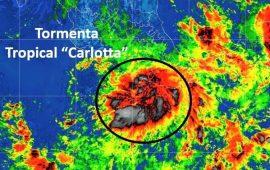 """""""Carlotta"""" tocó tierra este sábado; traerá lluvia en 17 entidades"""