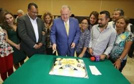 Reconoce el Magistrado Presidente del TSJVer, Edel Álvarez, a medios y comunicadores