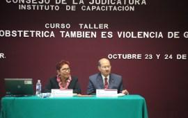 Poder Judicial del Estado imparte curso-taller sobre violencia obstétrica a jueces y secretarios de estudio y cuenta