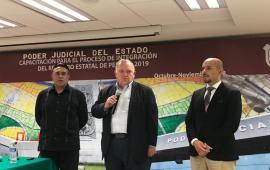 El Magistrado Presidente Edel Álvarez, acompaño a aspirantes a integrar el Registro Estatal de Peritos 2019