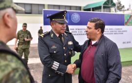 Asiste diputado Gómez Cazarín al cambio de mando de la Sexta Región Militar