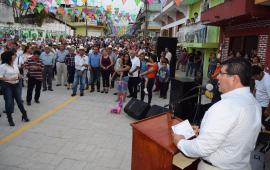 Inauguran Rehabilitación de la calle principal del Centro Histórico en Yecuatla