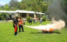 Capacita SS a su personal en prevención y combate de incendios