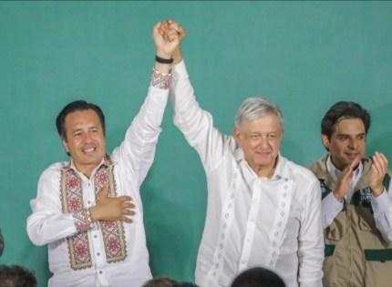 Agradece Cuitláhuac  todo el apoyo de AMLO a Veracruz