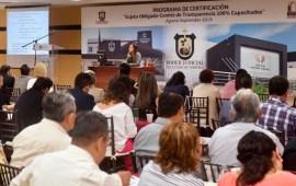 """Continúa programa de certificación del IVAI """"Sujeto obligado-Comité de Transparencia 100% capacitados"""" en el Poder Judicial"""