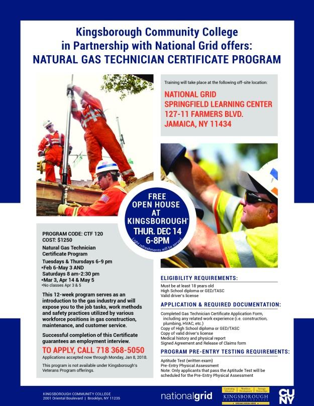 Natural Gas Technician Certification Program