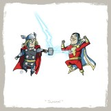 little_friends___thor_and_captain_marvel_by_rawlsy-d63q59d