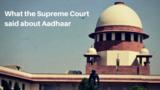 uidai,aadhaar card,aadhaar verdict,privacy,nandan nilekani,video