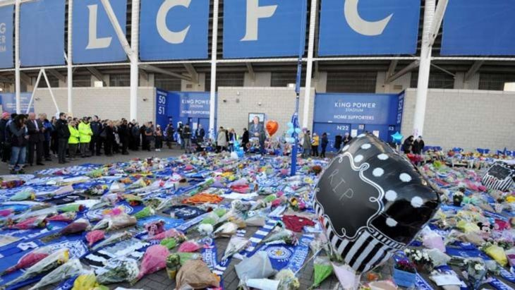 Leicester players pay tribute to owner