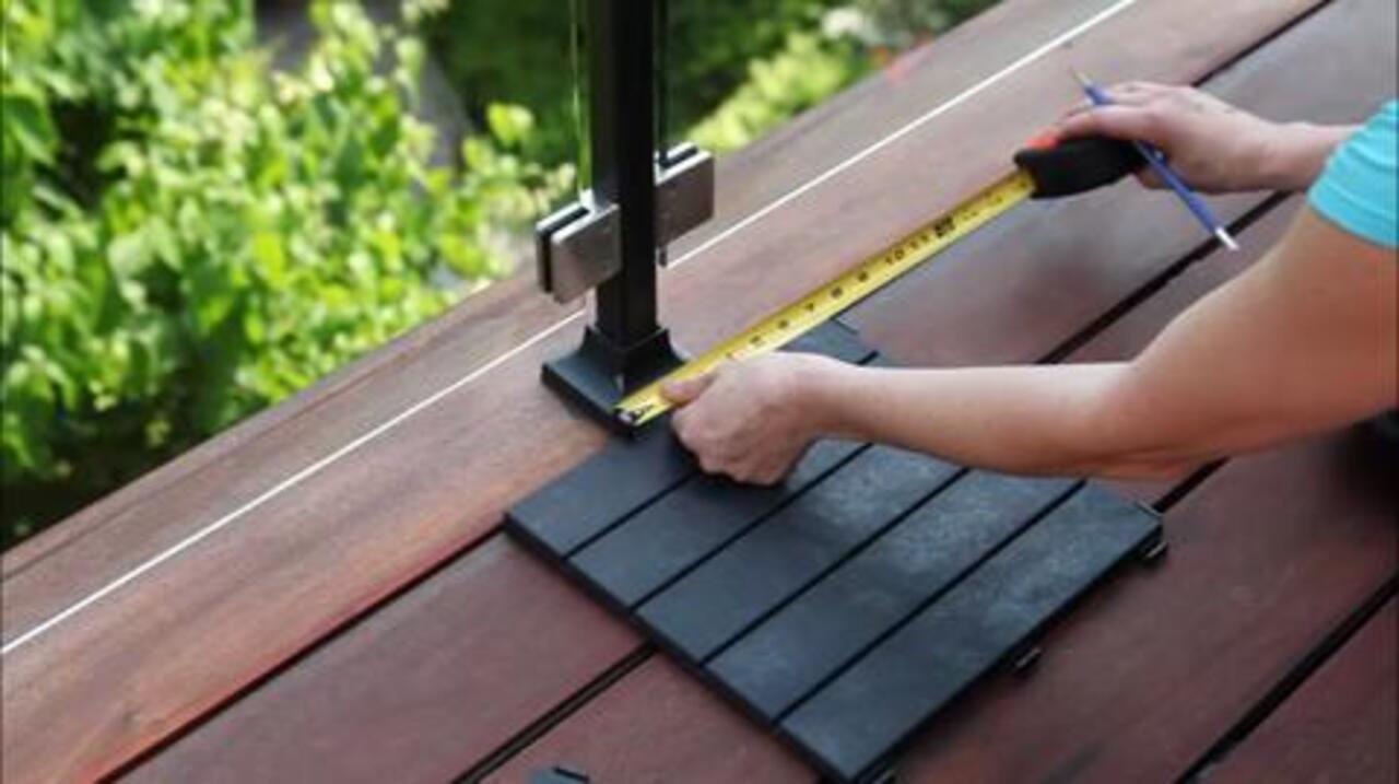 rubber slate deck tile 6 pack