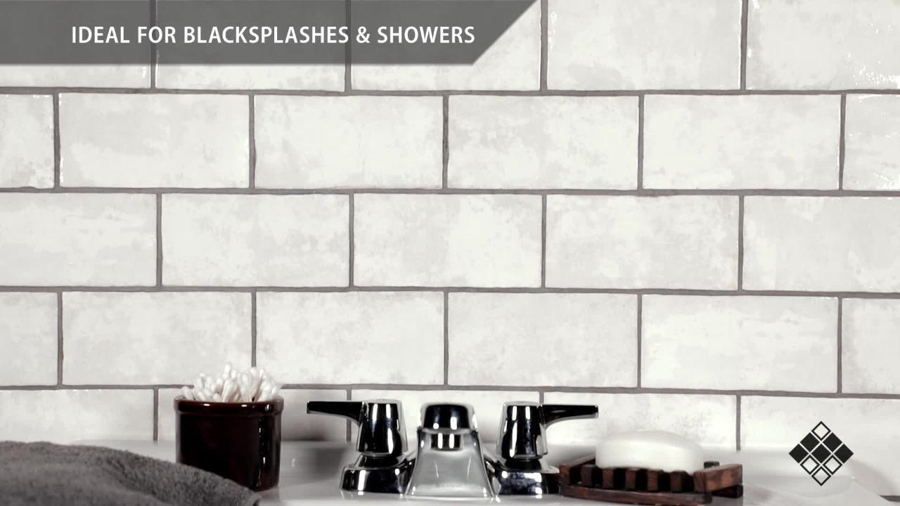biarritz white 3 in x 6 in ceramic wall tile 6 04 sq ft case