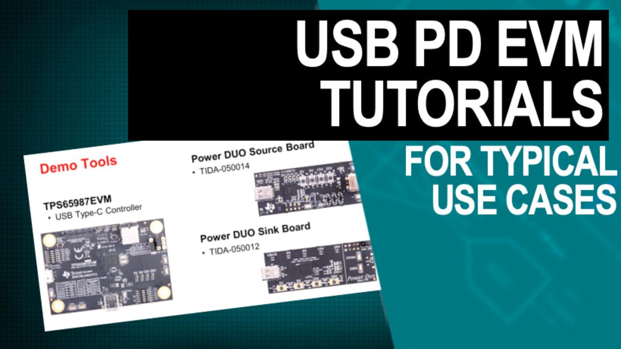 tps65987evm and usb c pd duo evm tutorial