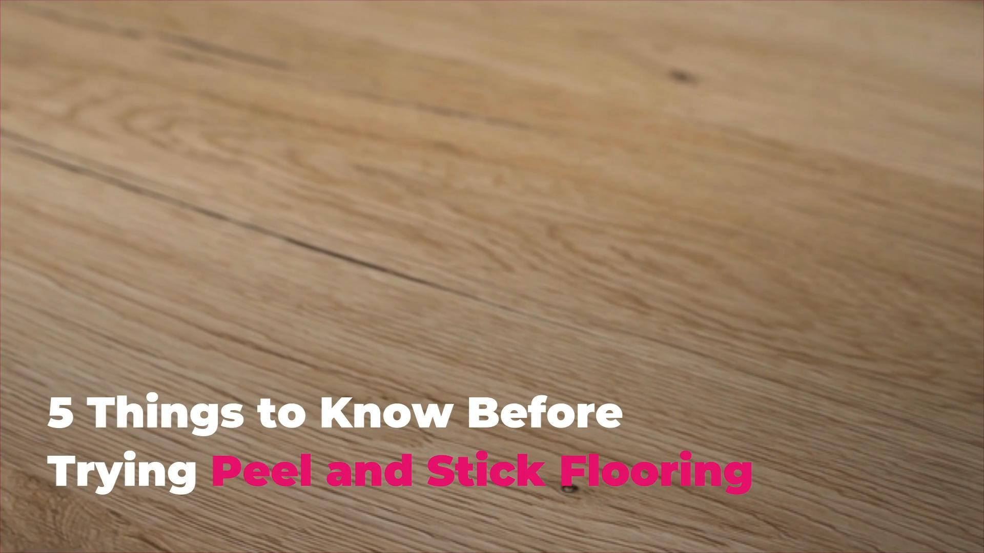 5 things to know before trying peel and stick flooring