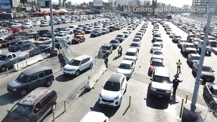 Image result for us mexico border truck gridlock