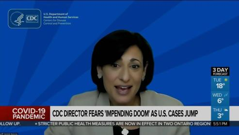CDC director fears 'impending doom' as U.S. cases jump