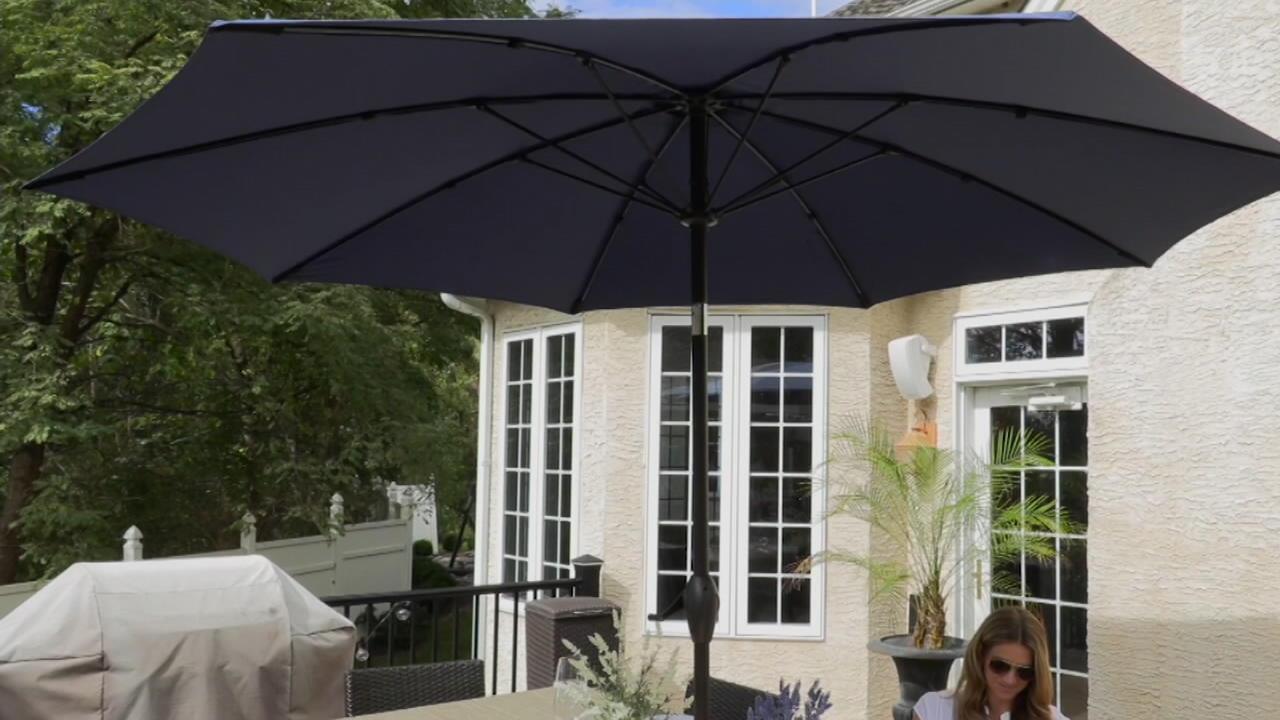 atleisure 9 elegant flexible dome patio umbrella with cover qvc com