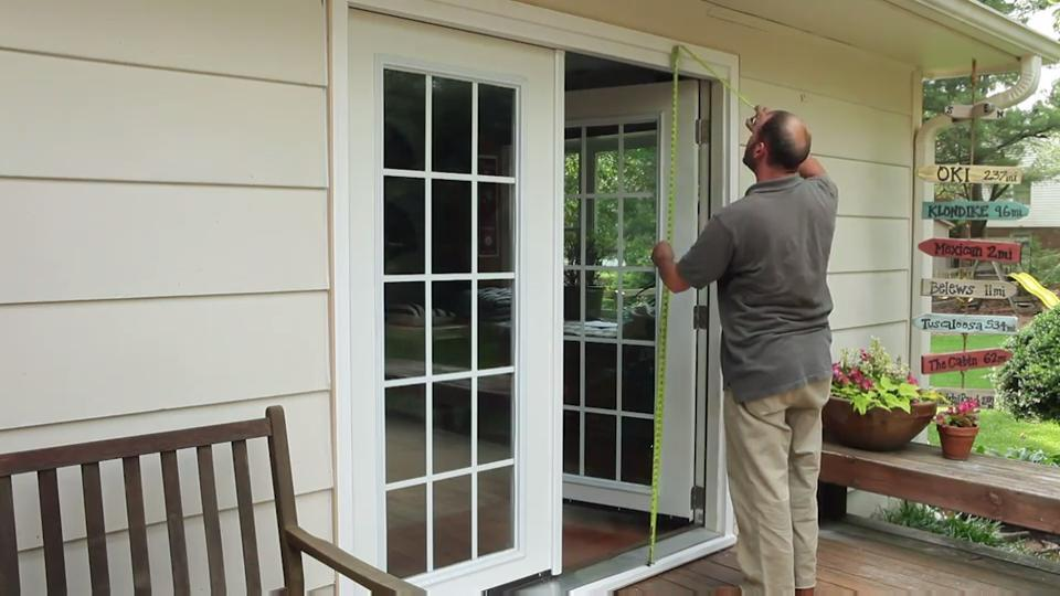 72 in x 80 in primed white steel prehung right hand inswing 15 lite clear glass patio door with brickmold