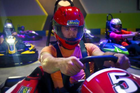 I-Drive Nascar Indoor Kart Racing - Race Play & Eat + ICON Orlando + iRide Trolley - 5-day Ticket