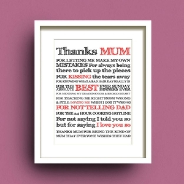 Thanks Mum by Fab Cow Design