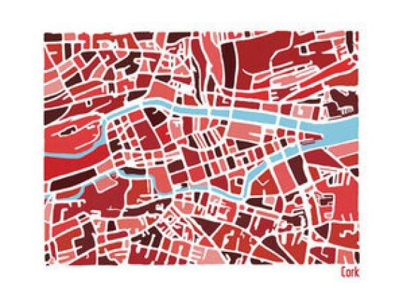 Cork Illustrated Map by Richard E Dalton at The Irish Workshop(1)