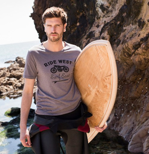 Ride West Tee by Tonn Surf T-Shirts at The Irish Workshop (2)