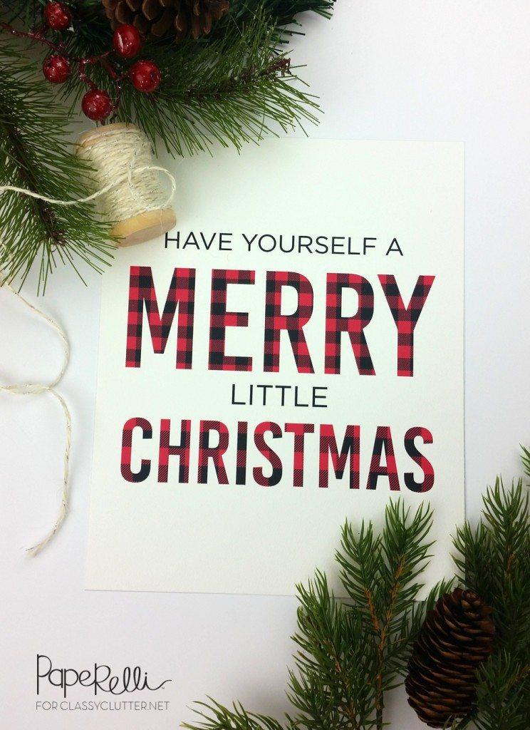 Buffalo Check Plaid Christmas Print Classy Clutter