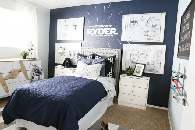 Star wars kids bedroom classy clutter kids bedroom for All american furniture warehouse