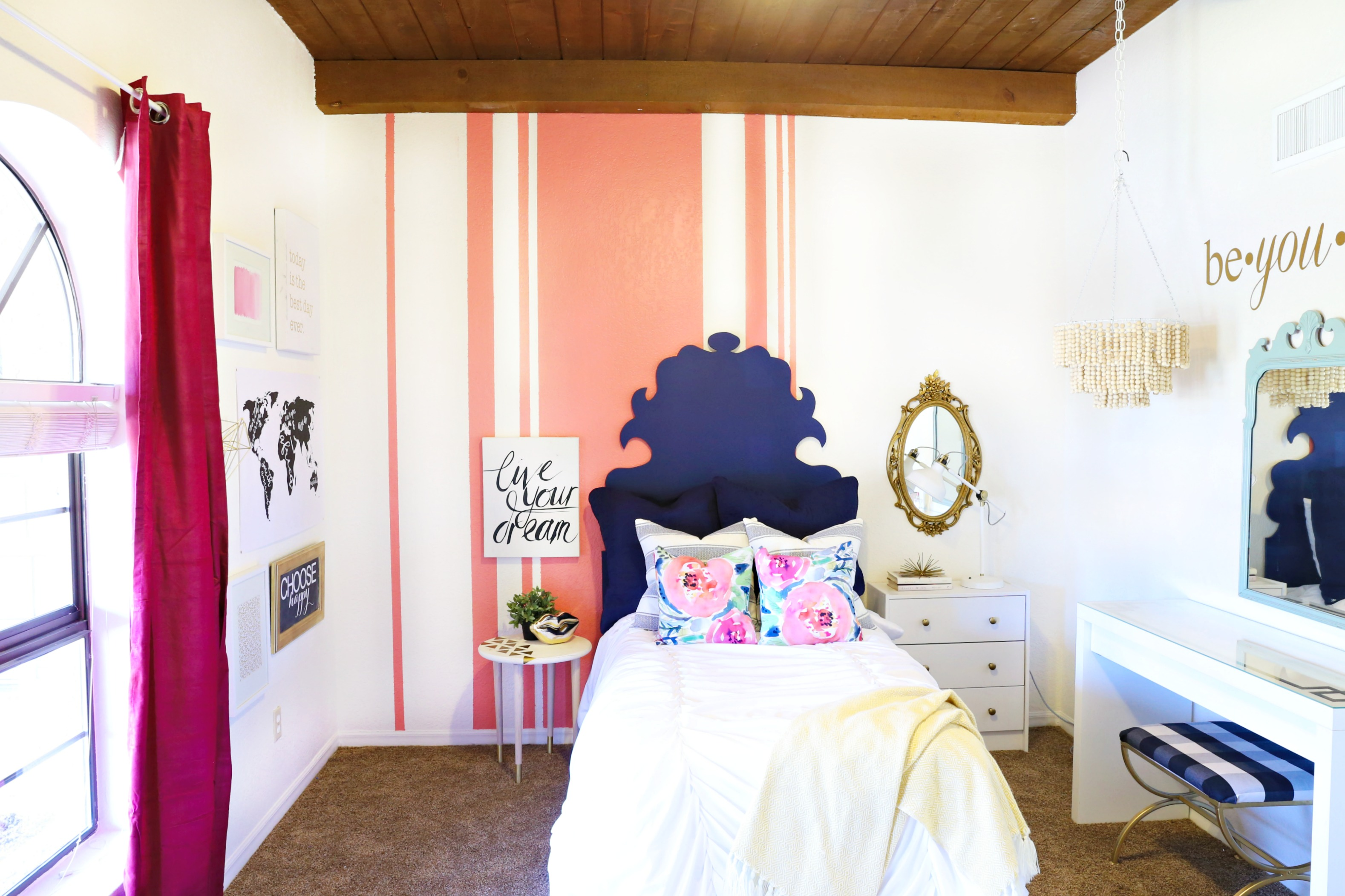 Colorful And Eclectic Teenage Bedroom Makeover Classy