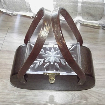 lucite box purse