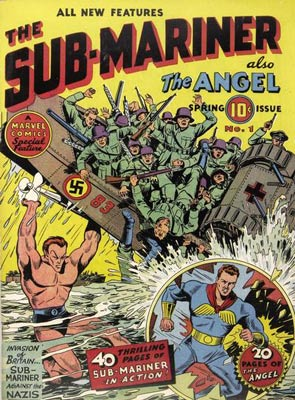 Image result for golden age superheroes fighting nazis