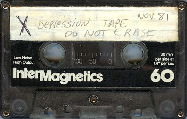 One of the 54 tapes Jaffe sent McGee of their early '80s recordings made on a Panasonic Mini Cassette. (Listen at HalTapes.com)