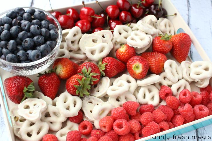 Easy Flag Fruit Dessert - Family Fresh Meals --