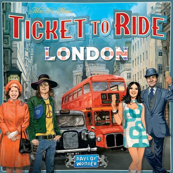 Ticket to Ride: London, Days of Wonder, 2019 — front cover, English edition (image provided by the publisher)