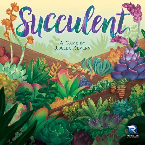 Succulent, Renegade Game Studios, 2020 — front cover (image provided by the publisher)