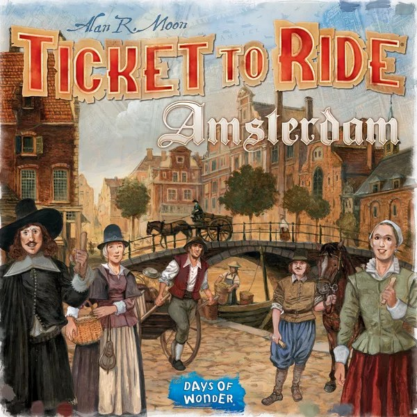 Ticket to Ride: Amsterdam, Days of Wonder, 2020 — front cover (image provided by the publisher)
