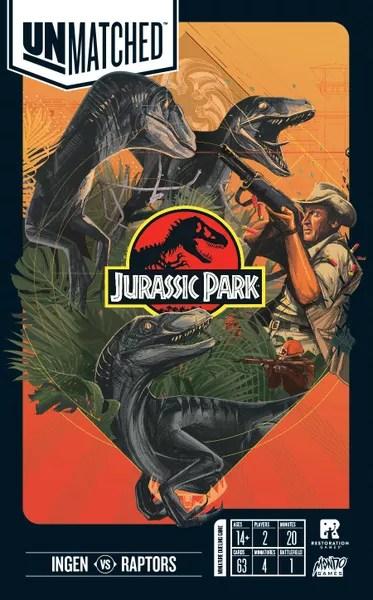 Unmatched: Jurassic Park - InGen vs Raptors, Restoration Games/Mondo Games, 2019 (flat)