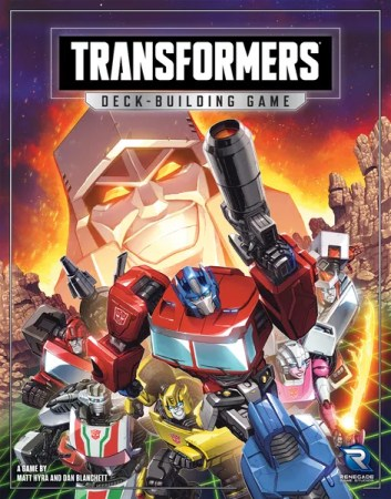 Transformers Deck-Building Game, Renegade Game Studios, 2021 — front cover (image provided by the publisher)