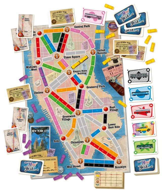 ticket to ride new york juego de mesa