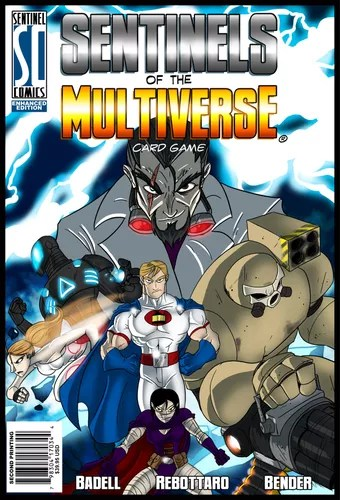 The cover art for the Enhanced Edition of Sentinels of the Multiverse, which will be released at Gen Con 2012!