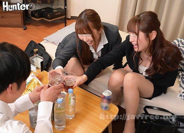 [HD][HUNTA-990] ボクの目の前で憧れの先輩女子社員2人がまさかの濃厚キス&イカせ合い!かと思ったらボクのイカせ合いに!会社の飲み会後、2人の先輩女子社員が…