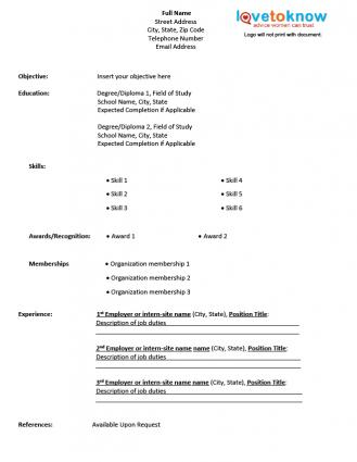 There is the free printable fill in the blank resume templates to help in dealing with those styles. Cv Printout Download
