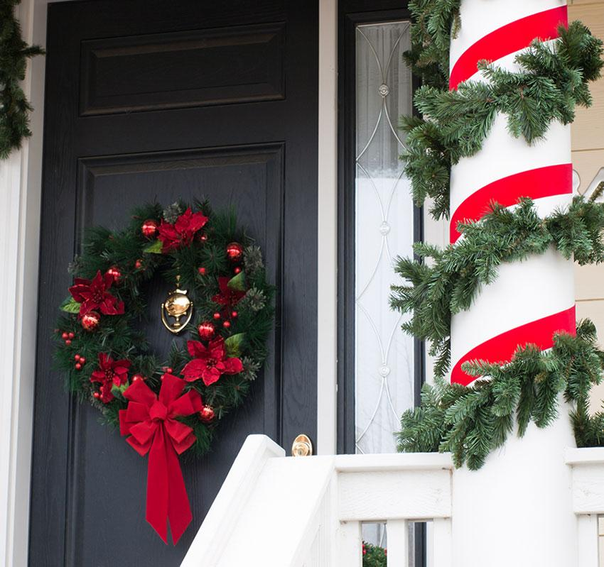 Decorating Porch Columns For Christmas Wwwindiepediaorg