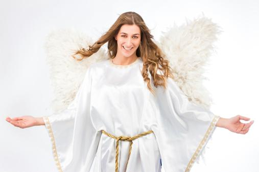 Costume Wings Gold Large Angel