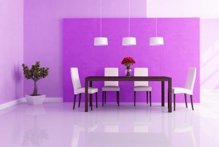 Phòng ăn màu tím