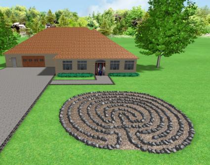 labyrinth flower garden designs Garden Labyrinth Designs | LoveToKnow