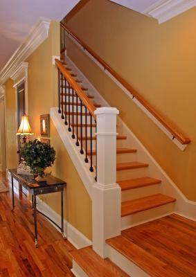 Installing Hardwood Stair Treads Lovetoknow | Installing Hardwood Stair Treads | Stair Stringers | Prefinished Stair Nosing | Staircase Makeover | Laminate | Hardwood Flooring