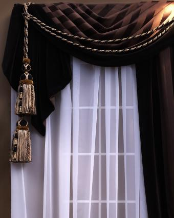 how to decorate plain curtains 14
